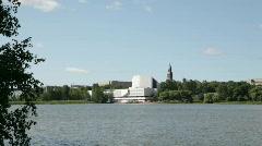 Finlandia Hall in Helsinki 3 Stock Footage
