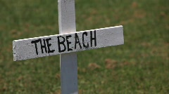 BP Gulf of Mexico Oil spill protest signage_07 Stock Footage