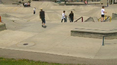 Sports and fitness, skateboard park, #2 Stock Footage