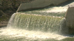 Dam Oldman, #3 spillway bottom Stock Footage