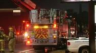 Fire truck (Truck 42) Stock Footage