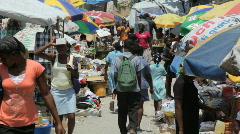 Haiti_market_02 Stock Footage