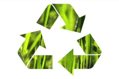 Recycle symbol grass V1 - NTSC Stock Footage