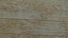 Detail of wood, tilt down Stock Footage