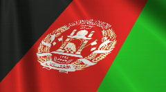 Afghanistan Flag Loop 03 Stock Footage