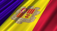 Andorra Flag Loop 02 Stock Footage