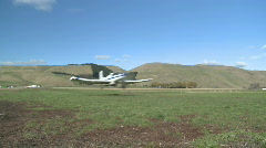 Cropduster plane takes off Stock Footage