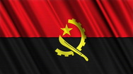 Angola Flag Loop 01 Stock Footage