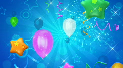 Balloons and stars background - stock footage