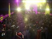 Stock Video Footage of 3D DJ Rock Concert NTSC