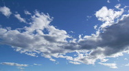 Stock Video Footage of White clouds on the blue sky time lapse