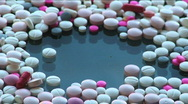 Pills and capsules 4 Stock Footage