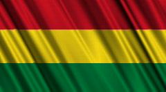 Bolivia Flag Loop 01 Stock Footage