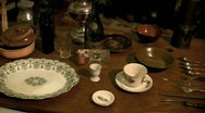 Table setting Stock Footage