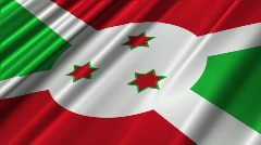 Burundi Flag Loop 02 Stock Footage