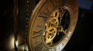 Old Clock in the dark Stock Footage