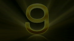 Countdown, count down. 10 to 0. Golden. - stock footage