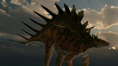 Kentrosaurus dinosaur, loopable Stock Footage