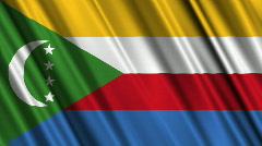 Comoros Flag Loop 01 Stock Footage