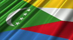 Comoros Flag Loop 02 Stock Footage