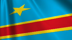 Congo Democratic Republic Flag Loop 03 Stock Footage