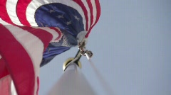 Under the American Flag Stock Footage