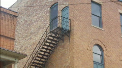 Old Escape Staircase in Historical Opera House Stock Footage