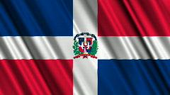 Dominican Republic Flag Loop 01 Stock Footage