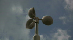 Anemometer Time Lapse - stock footage