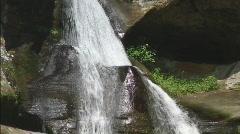 Water Cascading at Cedar Falls Stock Footage