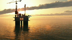 Off Shore Oil Rig  Stock Footage