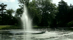 Water Fountain in outdoor park Stock Footage