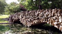 Rock Bridge in Nature Stock Footage