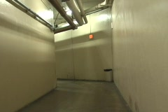 Underground Cold War Era tunnels under hospital Stock Footage