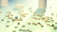 Pills on glass. Medicine Stock Footage