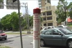 Jet Fuel Underground Pipe Marker Stock Footage