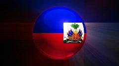 Haiti Globe Stock Footage