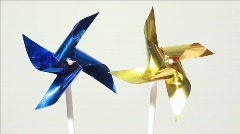 Propeller spins under influence of air flow Stock Footage