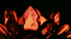 Group of crystals rapidly rotate around its axis - stock footage