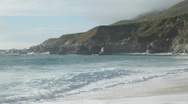 Garrapata Beach, Big Sur, California Stock Footage