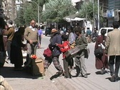 People on a street in Leh Ladakh Stock Footage