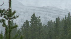Weather, rain in mountain valley, spring, #3 Stock Footage