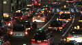 Trafic Jam - Tokyo Avenue. Japan. Cars, Taxi, street Footage
