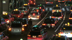Trafic Jam - Tokyo Avenue. Japan. Cars, Taxi, street Stock Footage