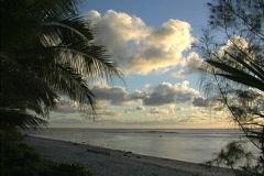 Rarotonga Clouds over lagoon Stock Footage