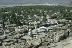 Pans view of Leh Stock Footage
