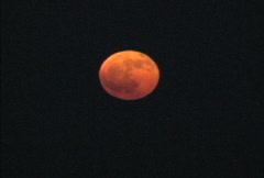 Orange full moon Stock Footage