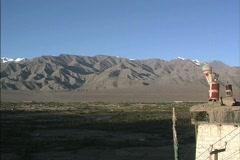 Zanskar Range above Indus Valley Stock Footage