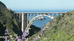 Bixby Creek Bridge, Big Sur, closeup Stock Footage