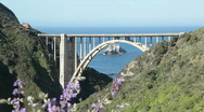 Stock Video Footage of Bixby Creek Bridge, Big Sur, closeup